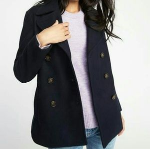 NWT Old Navy Womens Soft Brushed Peacoat XS Petite